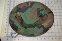 Woodland Military Style Poly Cotton Size Large Boonie Hat Camo Usa Made
