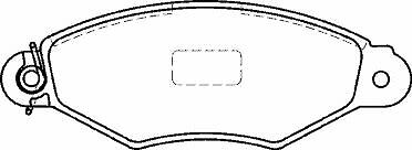 KANGOO FRONT 97-01 FRONT BRAKE DISCS /& PADS NO ABS