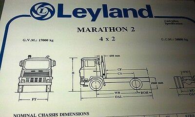 1980 LEYLAND TERRIER DIESEL 3 /& 4 Tonne  Truck  Australian Spec Sheet