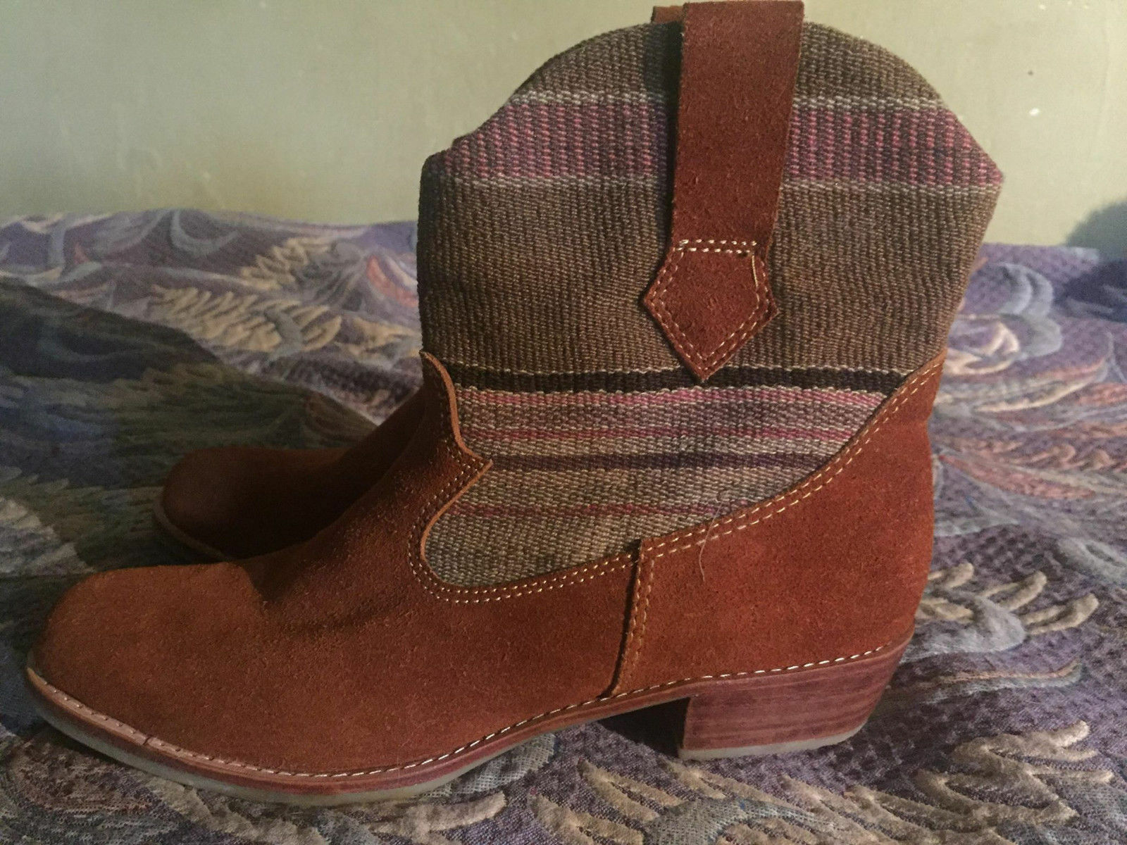 CHASKI Native shoes Real Leather Boots Boho Fest Cuzco Peru size US 8