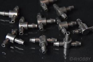10 T Verbindungsstü<wbr/>cke 5mm Luft Verbinder Schlauchverbin<wbr/>der Verteiler Wasser