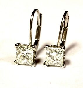 GIA-certified-14k-white-gold-1-40ct-princess-diamond-leverback-earrings-1-5g
