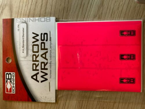 "Bohning Arrow Wraps 4/"" Standard Diameter Neon Pink"