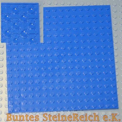 LEGO® Bauplatte 91405 blau 16x16 Noppen 1//3 Stein unterbaubar selten /& NEU !