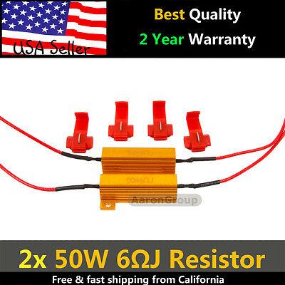 2PCS 50W 6ohm LED Load Resistor Fix LED Bulb Fast Hyper Flash Turn Signal Blink