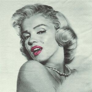 SERVIETTES EN PAPIER MARILYN MONROE CINEMA. PAPER NAPKINS MARILYN MONROE MOVIE