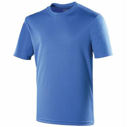 AWDis T Shirt Tee Running Training Breathable Sports Top JC001 Blue Royal