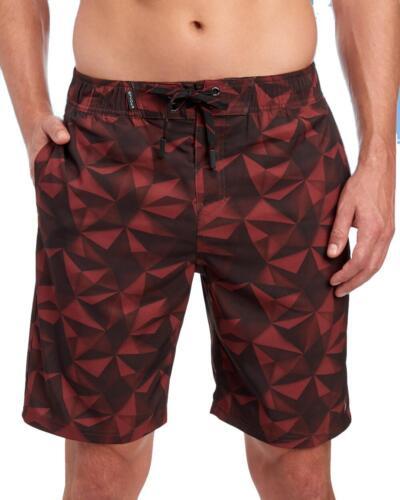 "Men/'s M Spyder NWT$70-9/"" Port Red Geo Printed Logo Board Shorts"