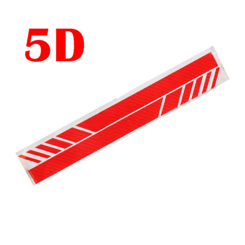 2PC 5D Carbon Fiber Car Rearview Mirror Sticker Racing Stripes Decal Accessories
