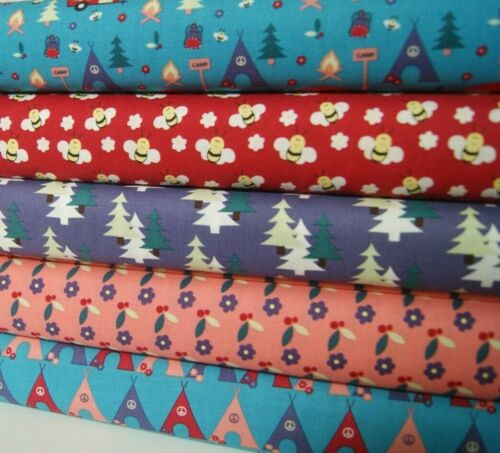CAMPING COTTON FABRIC RANGE Craft Quilting* Dressmaking By Fabric Freedom