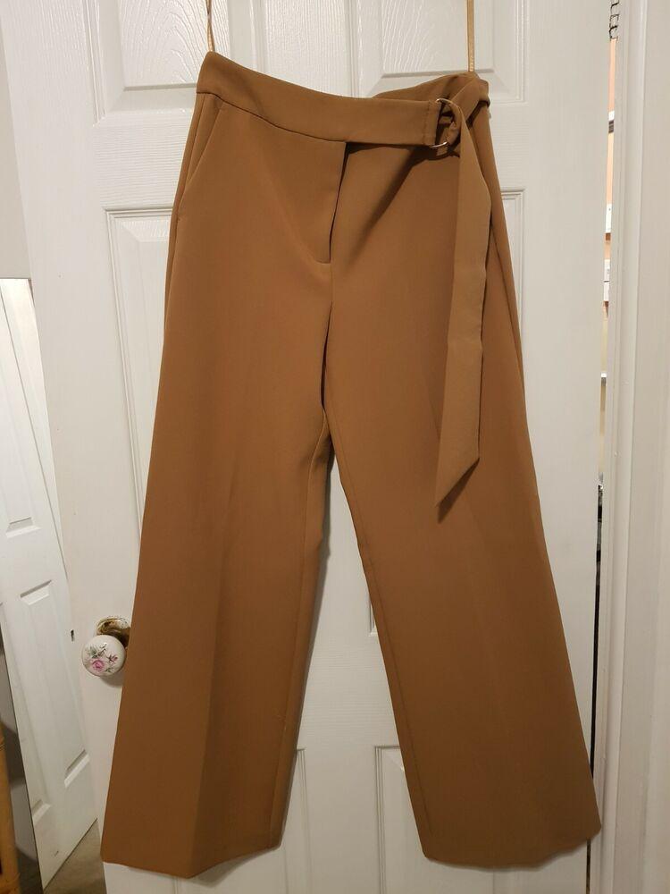 Amical Next Camel Pantalon, Taille Haute, Neuf, Taille 10 Vif Et Grand Dans Le Style
