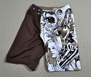 c704c8dfa1 Image is loading Brown-LOST-ENTERPRISES-Sexy-Bikini-Girl-Skull-Wings-