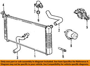 cadillac gm oem 87 92 allante engine coolant thermostat 3539588 ebay rh ebay com