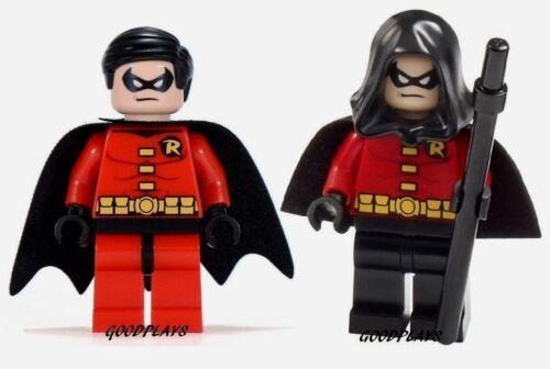 2 LEGO Super Heroes DC Batman Robin Minifigures 10937 6857 lot new minifig