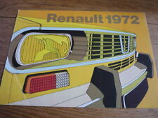 RENAULT 4, 6, 12, 16 SALES BROCHURE 1972 jm