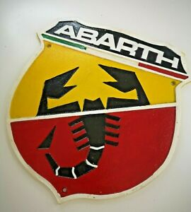 Abarth  - Scorpio - Fiat - 595 500 - Heavy Cast Iron Sign Plaque