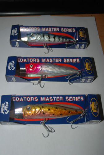 3 x Cuillère popper wels brochet zander perche saumon 85mm