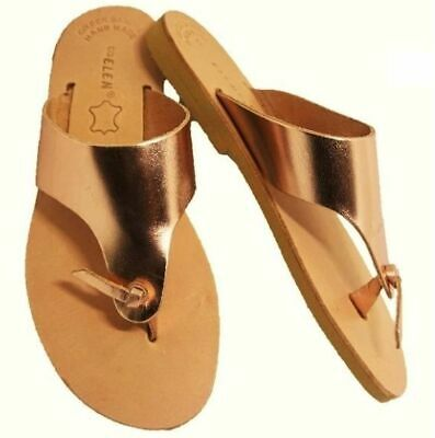 Ancient Greek Style Women Sandals Handmade Gladiator Leather Spartan Lace Up