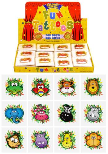 Children/'s Boys Girls Temporary Tattoos Kidz Party Bag Fillers Toyz Fundraiser