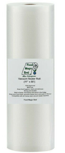 "Food Saver! One 11/""x50/' Roll Food Magic Seal Vacuum Sealer Food Storage Bags"