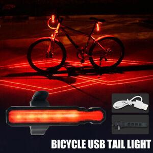 Impermeabile-MTB-Laser-posteriore-Luce-USB-LED-posteriori-per-bici-bicicletta-IT