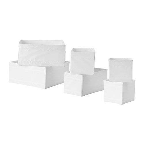 Ikea Skubb box, Set de 6 Tiroir Rangement Boîtes de rangement blanc ou gris foncé