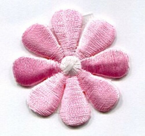 DAISY  PINK /& WHITE IRON ON APPLIQUE 1 inch