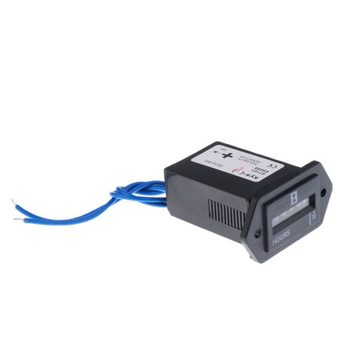 AC LCD Digital Betriebsstundenzähler Stundenzähler Zeitzähler 1X 10-80V DC