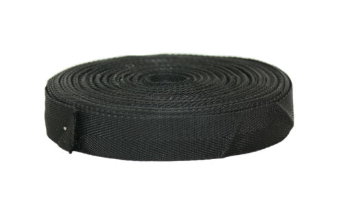 """25mm Negro De Lona De Tela craft//hobby 10 metros * Nuevo * 1 /"""""""