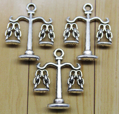 10//30pcs retro style libra alloy charm pendants 22 x 18mm