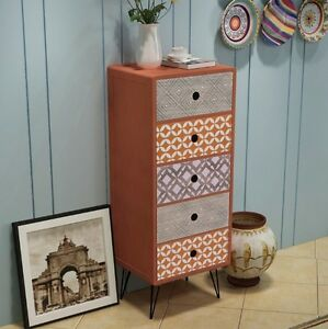 Image Is Loading Vintage Industrial Cabinet Tall Chest Drawers Bedroom  Furniture
