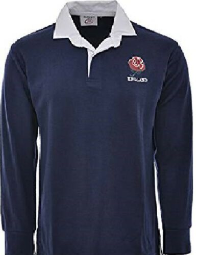 ENGLAND ENGLISH ADULTS RUGBY SHIRT FULL SLEEVE ALL SIZES EMBROIDED NEW S  M L XL