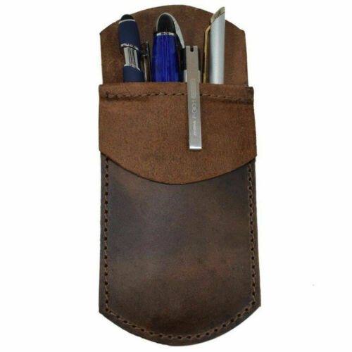 Durable Leather Work Essentials Pen Pencil Pocket Protector for Office Work