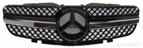 Mercedes Benz SL R230 SL500 SL600 SL-Style 03-06 Front Grille Chrome /& Black