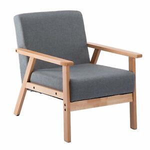 Details zu Lounge Sessel Polstersessel Retro Stuhl Wohnzimmer Schlafzimmer  mit Massivholz