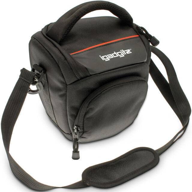 Small Black Water-Resistant SLR DSLR Bridge Camera Holster Travel Bag Case Cover