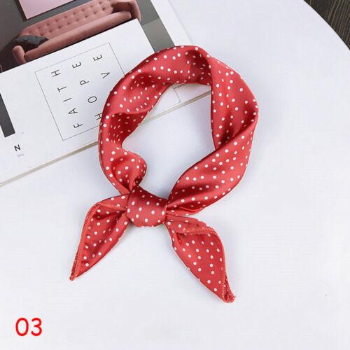 Small Square Scarf Silk Feel Satin Bandana Handkerchief Head Neck Tie Hair Band