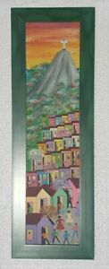 2003 Signed N. Ranauro Afro Brazilian Brasil CHRIST Art Painting Rio Brazil