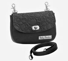 Harley-Davidson® Women's Willie G Skull Leather Clip Hip-Bag Purse ZWL1846-BLACK