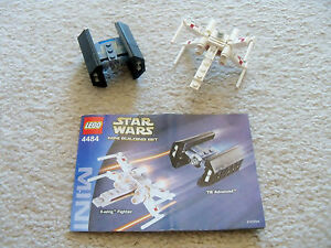 LEGO-Star-Wars-Rare-4484-X-wing-Fighter-amp-TIE-Advance-w-Instructions