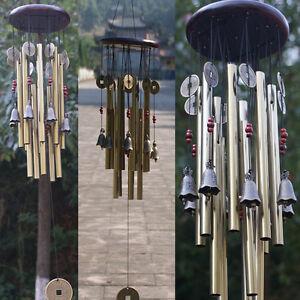 Huge Wind Bell Chimes Bells Copper Tubes Outdoor Yard Garden Tubes Home Decor