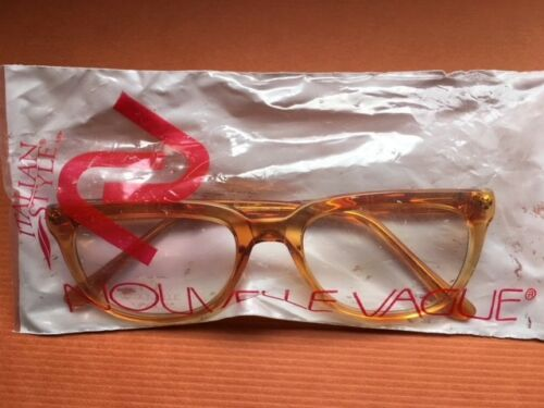 BUD 48-22 NOUVELLE VAGUE NEW OLD STOCK READING GLASSES BROWN SMALL FRAME MOD