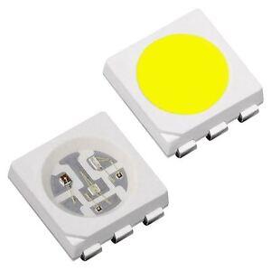 UK - Ultra Bright SMD SMT 5050 1st CLASS POST 10 x Orange PLCC-6 LED