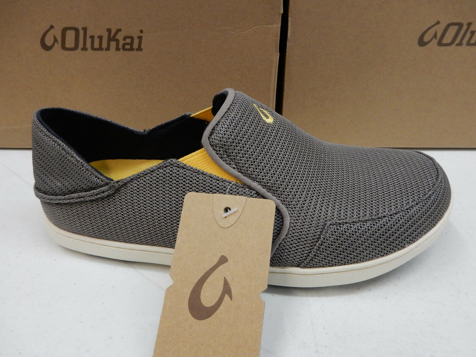 OLUKAI MENS SHOES NOHEA MESH ROCK CANOE SIZE 13