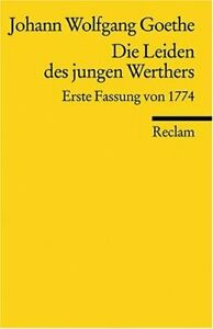 Details About Die Leiden Des Jungen Werthers By Johann Wolfgang Von Goethe