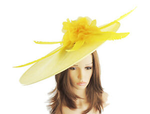 2fd57167381be Image is loading Yellow-Fascinator-Hat-For-Weddings-Ascot-Kentucky-M16