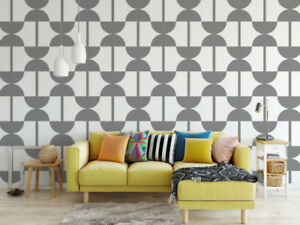 Details About Mid Century Modern Wall Decor Retro Decal Nursery Geometric