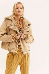 And Xs Sable Free Nwt Denim Størrelse Owens Ny Sherpa Jacket People Sand H8waHqF