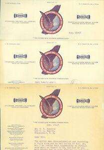 3-July-Aug-Dec-1913-Eagle-Oil-amp-Supply-Co-Boston-Massachusetts-Letterheads