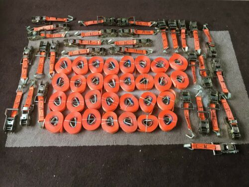 Heavy Duty Rachet Strap Staps 4M x 30-1500kgs Load Tie Downs New Lashing Hook